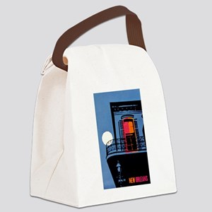 Vintage New Orleans Travel Canvas Lunch Bag