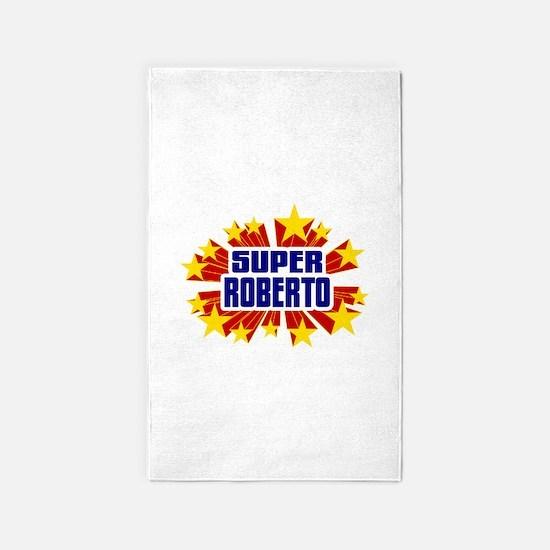 Roberto the Super Hero 3'x5' Area Rug
