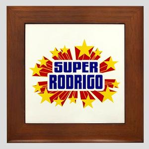 Rodrigo the Super Hero Framed Tile