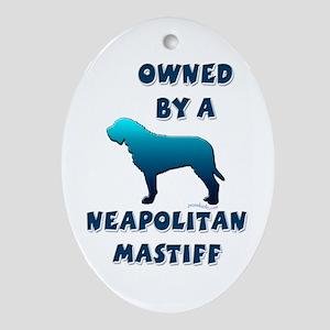 Neapolitan Silhouette Oval Ornament