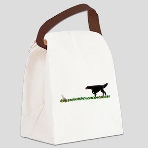 Gordon Setter in the Field II Canvas Lunch Bag