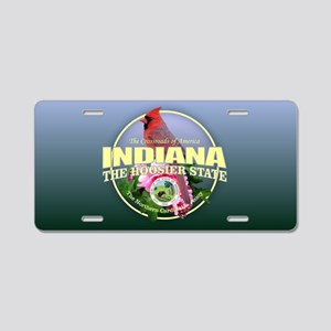 Indiana State Bird & Flower Aluminum License Plate