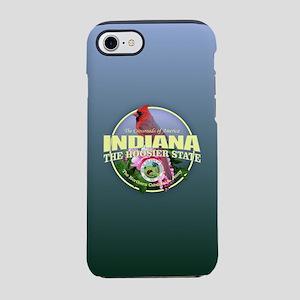 Indiana State Bird & Flower iPhone 7 Tough Case