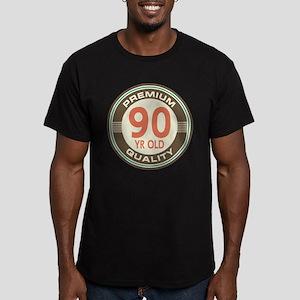 90th Birthday Vintage Men's Fitted T-Shirt (dark)