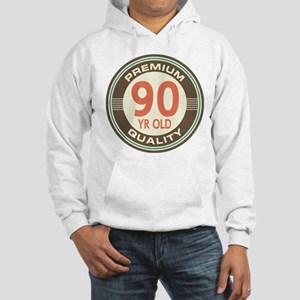 90th Birthday Vintage Hooded Sweatshirt