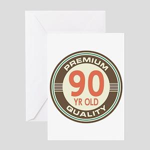 90th Birthday Vintage Greeting Card