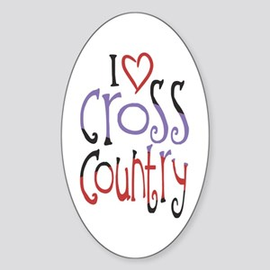 I love (heart) cross country Sticker