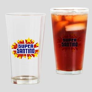 Santino the Super Hero Drinking Glass