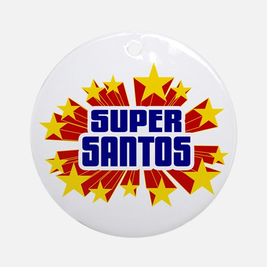Santos the Super Hero Ornament (Round)