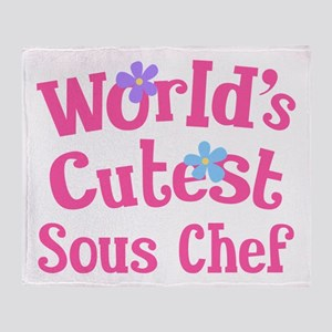 Worlds Cutest Sous Chef Throw Blanket