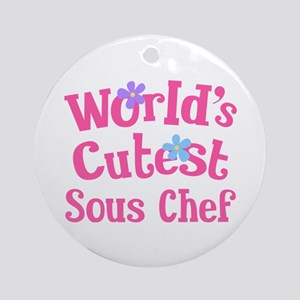 Worlds Cutest Sous Chef Ornament (Round)
