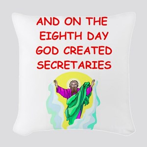 SECRETARIES Woven Throw Pillow