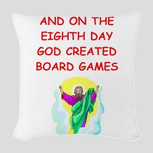 BOARDGAMES Woven Throw Pillow