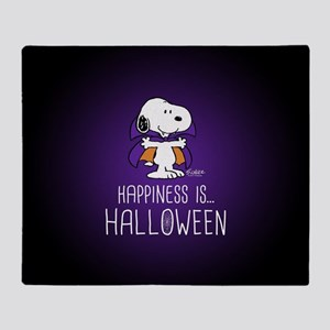 Peanuts Happiness is Halloween Throw Blanket