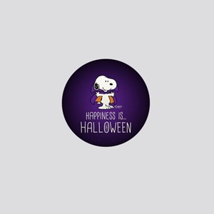 Peanuts Happiness is Halloween Mini Button