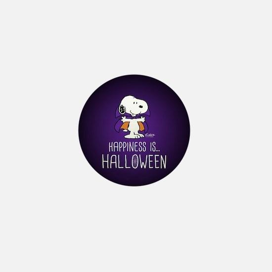 Peanuts Happiness is Halloween Mini Button