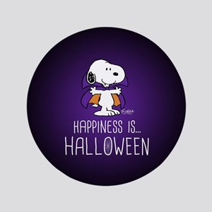 Peanuts Happiness is Halloween Button