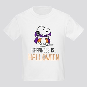 Peanuts Happiness is Halloween Kids Light T-Shirt