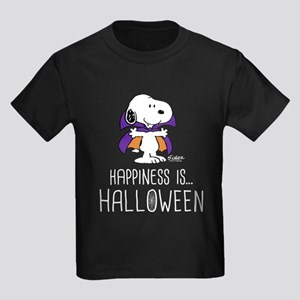 Peanuts Happiness is Halloween Kids Dark T-Shirt