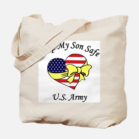 US Army Mom & Dad Keep My Son Safe Tote Bag