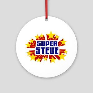 Steve the Super Hero Ornament (Round)