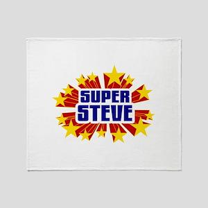 Steve the Super Hero Throw Blanket