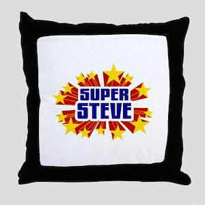 Steve the Super Hero Throw Pillow