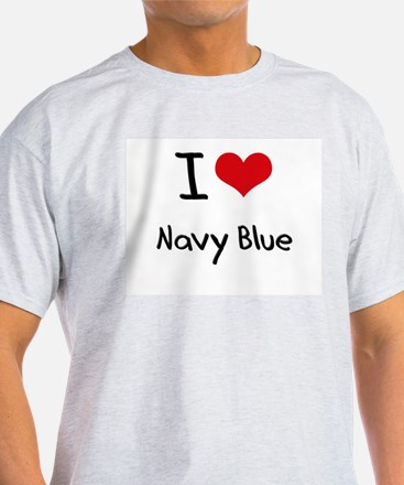 I Love Navy Blue T-Shirt