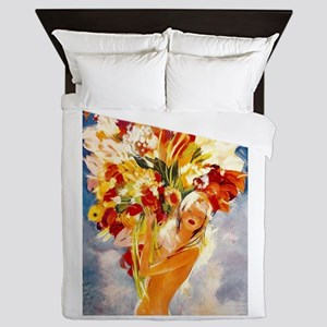 Vintage Monte Carlo Travel Queen Duvet