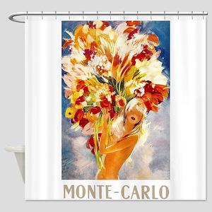 Vintage Monte Carlo Travel Shower Curtain