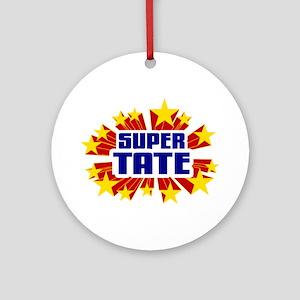 Tate the Super Hero Ornament (Round)