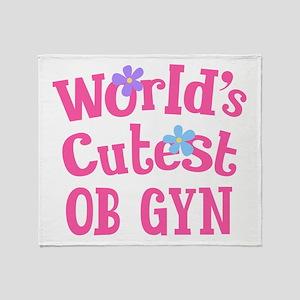 Worlds Cutest OB GYN Throw Blanket