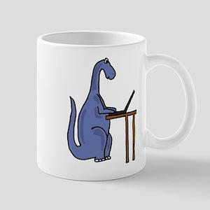 Dinosaur Using Laptop Mug