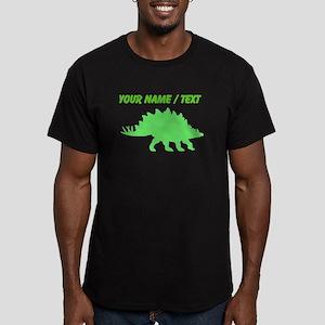 Custom Green Stegosaurus Silhouette T-Shirt