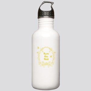 Save the Bees Vintage Floral Water Bottle