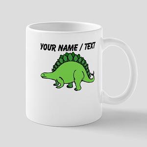 Custom Green Stegosaurus Mug