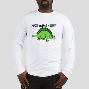 Custom Green Stegosaurus Long Sleeve T-Shirt