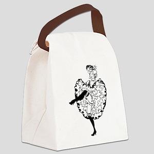 Cancan Dancer Canvas Lunch Bag