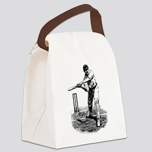 Cricket Player Canvas Lunch Bag