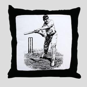 Cricket Player Throw Pillow