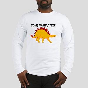 Custom Yellow Stegosaurus Long Sleeve T-Shirt