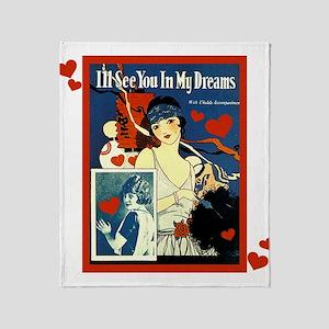 Vintage See You In My Dreams Throw Blanket