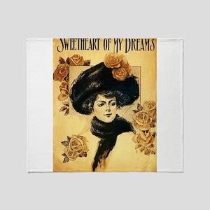 Vintage Sweetheart Of My Dreams Throw Blanket