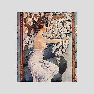 Vintage Music Art Nouveau Tango Throw Blanket