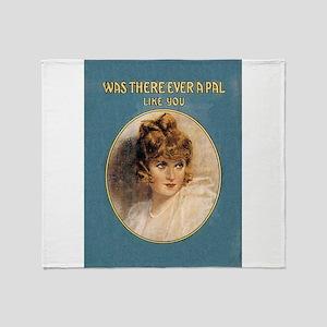 Vintage Music Art Ever A Pal like You Throw Blanke