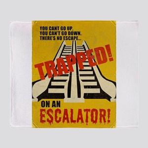 Trapped On An Escalator Throw Blanket