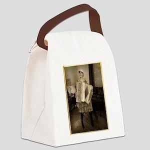 Retro Accordion Canvas Lunch Bag