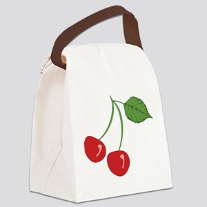 Retro Cherries Canvas Lunch Bag