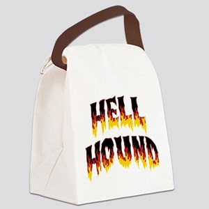 Retro Hell Hound Canvas Lunch Bag