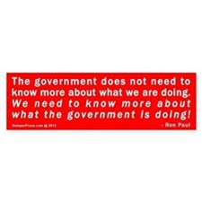 Ron Paul NSA Bumper Sticker